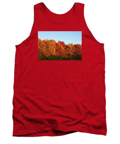 Tank Top featuring the photograph Fall Forest by Nikki McInnes