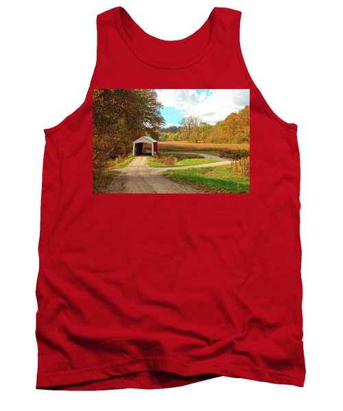 Fall Harvest - Parke County Tank Top by Harold Rau