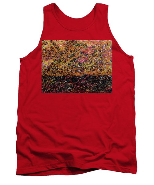 Tank Top featuring the digital art Fall Homage To Jackson by Walter Fahmy