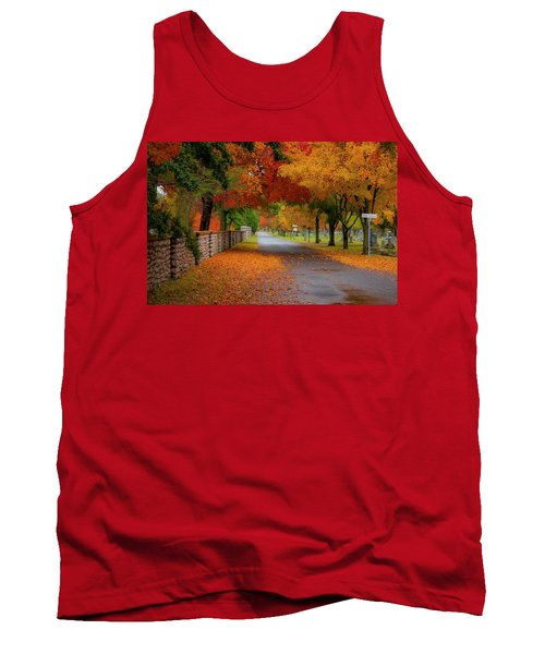 Fall In The Cemetery Tank Top
