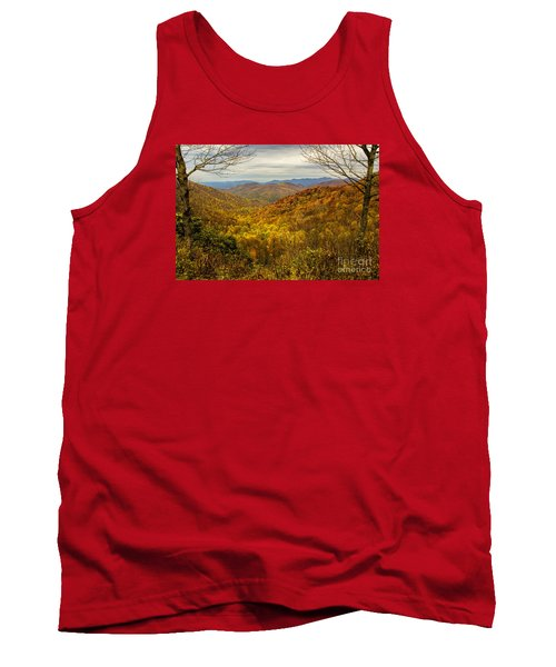 Tank Top featuring the photograph Fall Mountain Overlook by Barbara Bowen