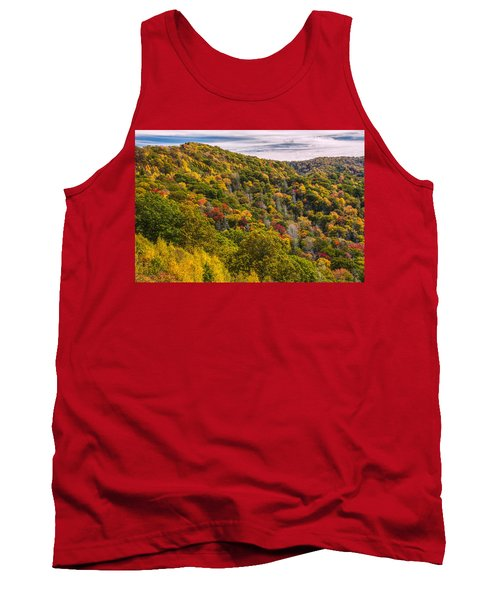 Tank Top featuring the photograph Fall Mountain Side by Tyson Smith