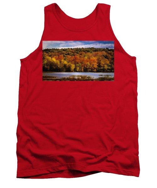 Fall On Springfield Lake Tank Top