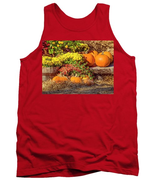 Fall Pumpkins Tank Top by Carolyn Marshall