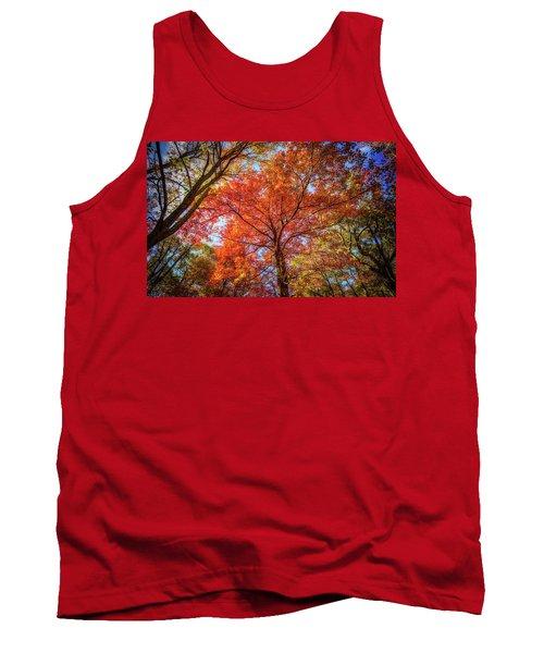 Fall Red Tank Top