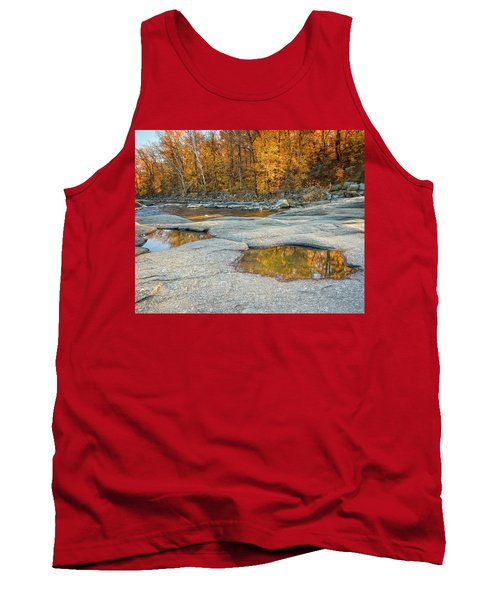 Tank Top featuring the photograph Fall Reflection by Alan Raasch