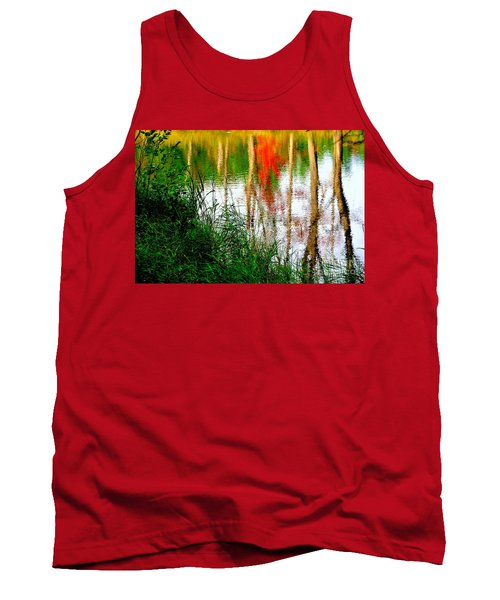 Tank Top featuring the photograph Fall Reflections by Elfriede Fulda