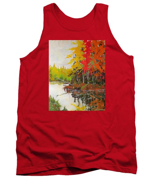 Fall Scene Tank Top by David Gilmore