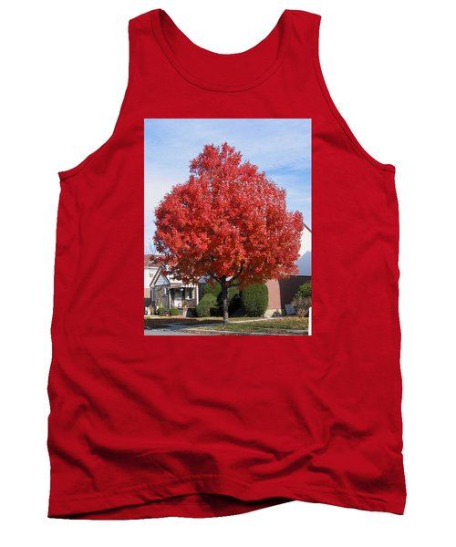 Tank Top featuring the photograph Fall Season by Suhas Tavkar