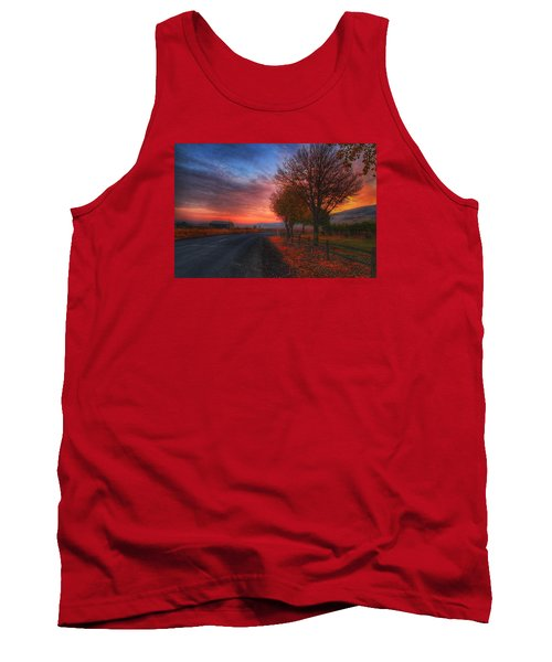Fall Sunrise Tank Top by Lynn Hopwood