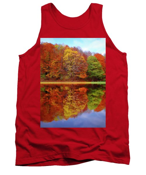 Tank Top featuring the painting Fall Waters by Harry Warrick