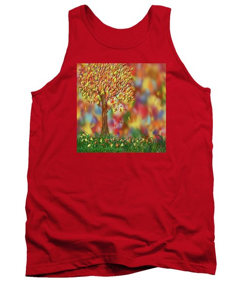 Falling Leaves Tank Top by Kevin Caudill