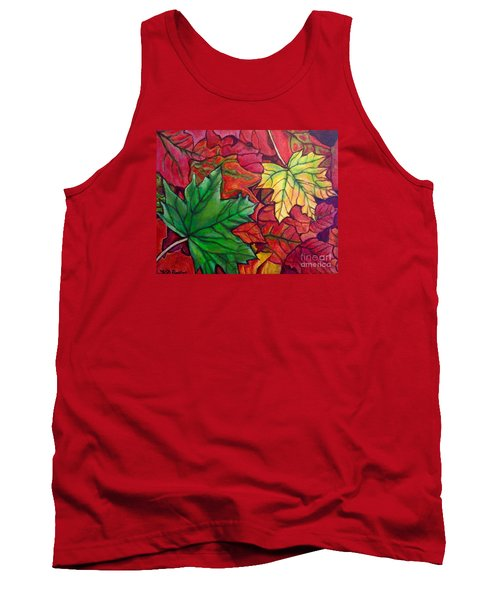 Falling Leaves I Painting Tank Top by Kimberlee Baxter