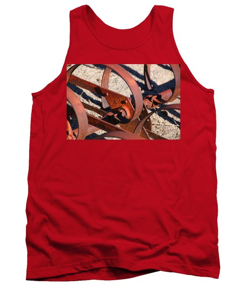 Tank Top featuring the photograph Farm Equipment 4 by Ely Arsha