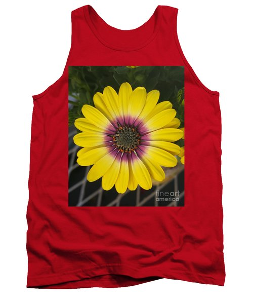 Fascinating Yellow Flower Tank Top by Jasna Gopic