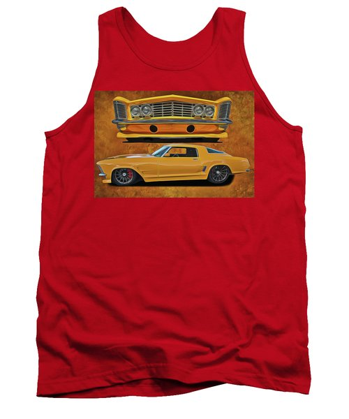 Tank Top featuring the painting Fast Yellow by Harry Warrick