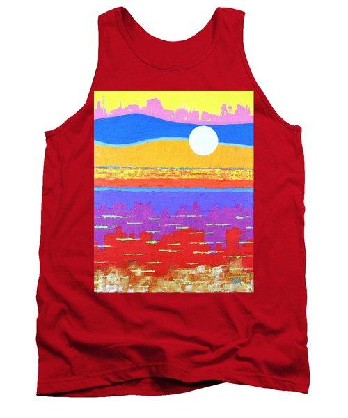 Fauvist Sunset Tank Top by Jeremy Aiyadurai