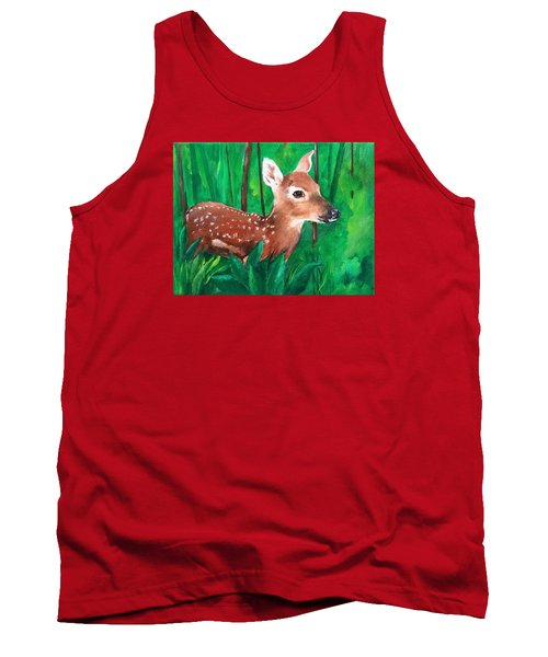 Tank Top featuring the painting Fawn by Ellen Canfield