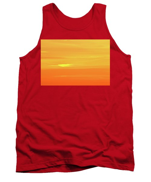 Feather Cloud In An Orange Sky  Tank Top by Lyle Crump