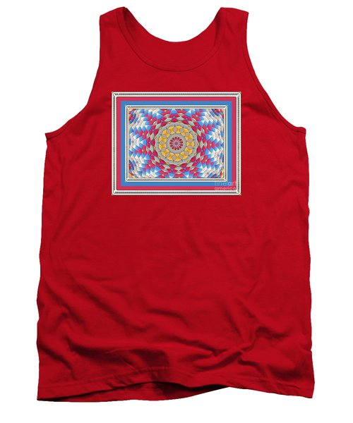 Feathered Star Quilt Tank Top by Shirley Moravec