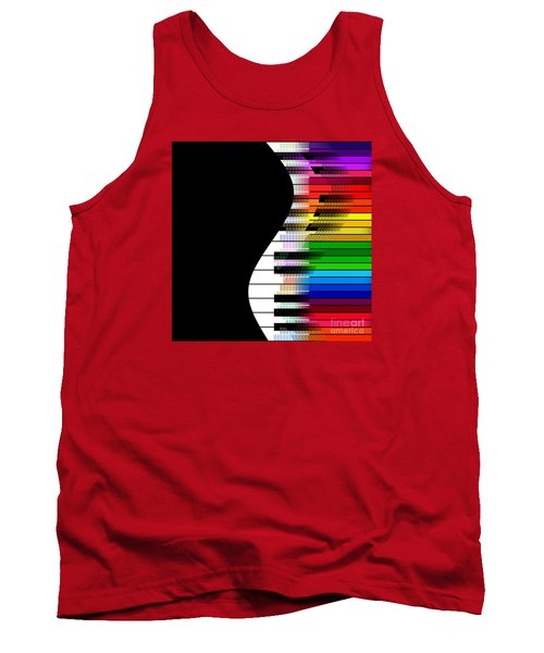 Tank Top featuring the digital art Feel The Music by Klara Acel