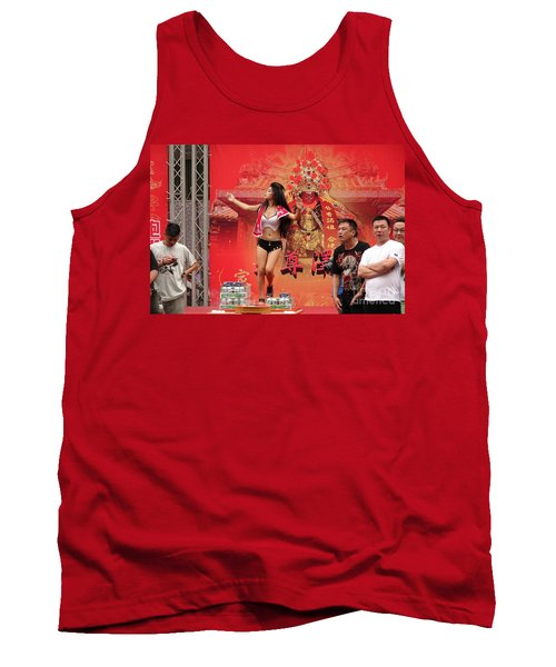 Tank Top featuring the photograph Female Dancer At A Temple Ceremony by Yali Shi