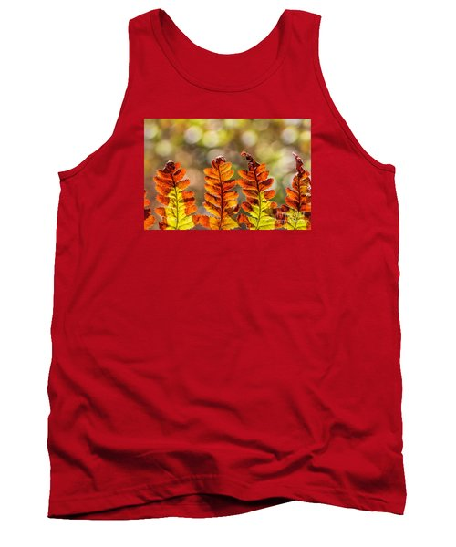 Ferns And Bokeh Forest Light Tank Top