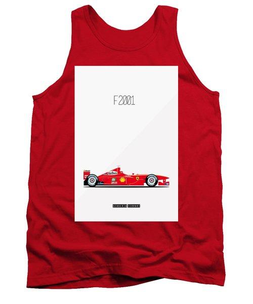 Ferrari F2001 F1 Poster Tank Top