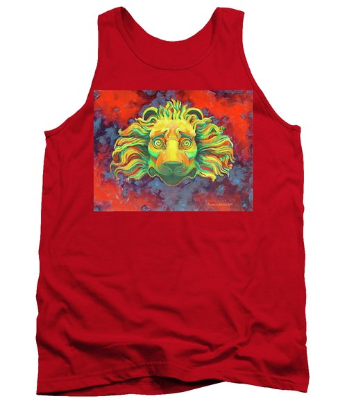 Tank Top featuring the painting Fidardo's Lion by Andrew Danielsen