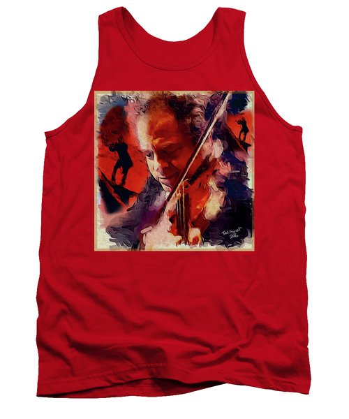 Tank Top featuring the painting Fiddler by Ted Azriel