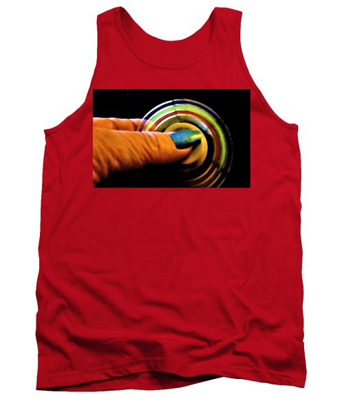 Tank Top featuring the photograph Fidgets by Denise Fulmer