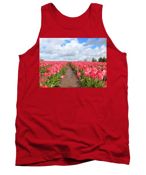 Field Of Pink Tank Top