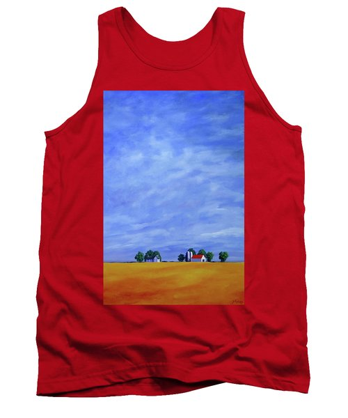 Tank Top featuring the painting Fields Of Gold by Jo Appleby