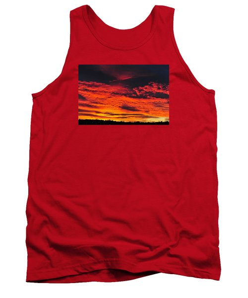 Fiery Close Of Day Tank Top