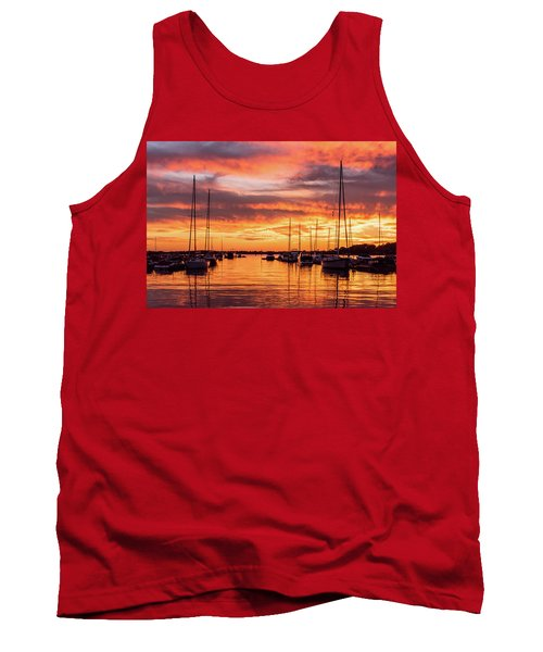 Fiery Lake Norman Sunset Tank Top