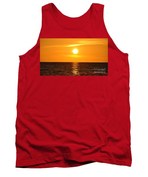 Tank Top featuring the photograph Fiery Sunset by John Black