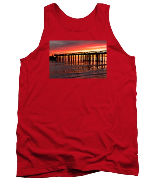Tank Top featuring the photograph Fire In The Sky by Lora Lee Chapman