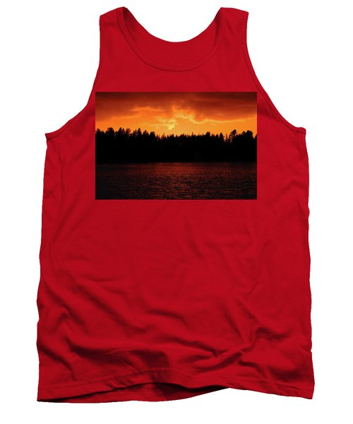Fire In The Sky Tank Top by Teemu Tretjakov