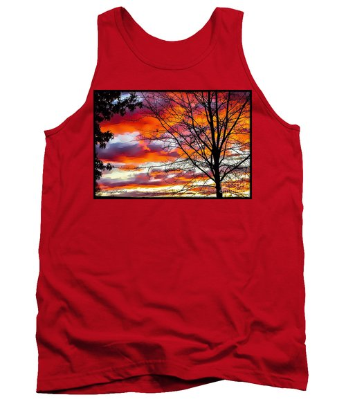 Fire Inthe Sky Tank Top by MaryLee Parker