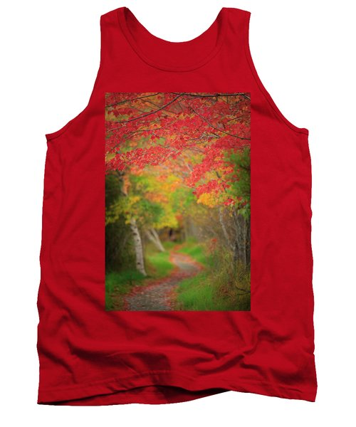 Tank Top featuring the photograph Fire Red Path  by Emmanuel Panagiotakis