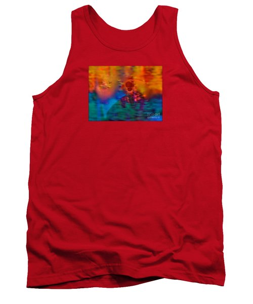 Tank Top featuring the painting Firewall Berries by Patricia Schneider Mitchell