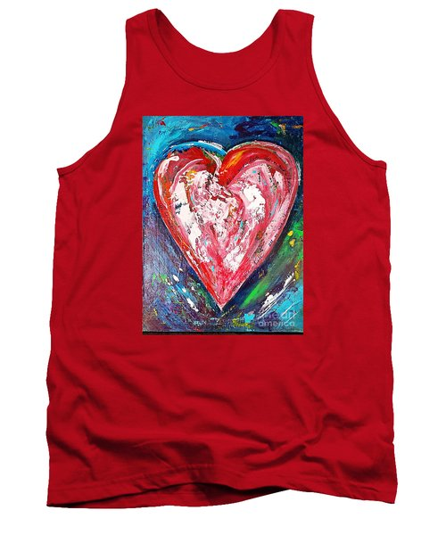 Tank Top featuring the painting Fireworks by Diana Bursztein