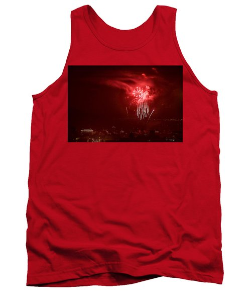 Fireworks In Red And White Tank Top