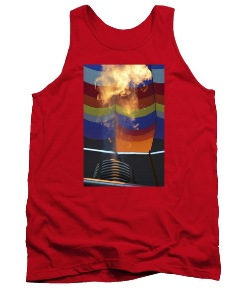 Tank Top featuring the photograph Firing Up by Linda Geiger