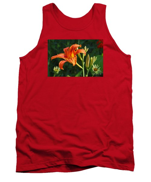 First Flower On This Lily Plant Tank Top by Steve Augustin