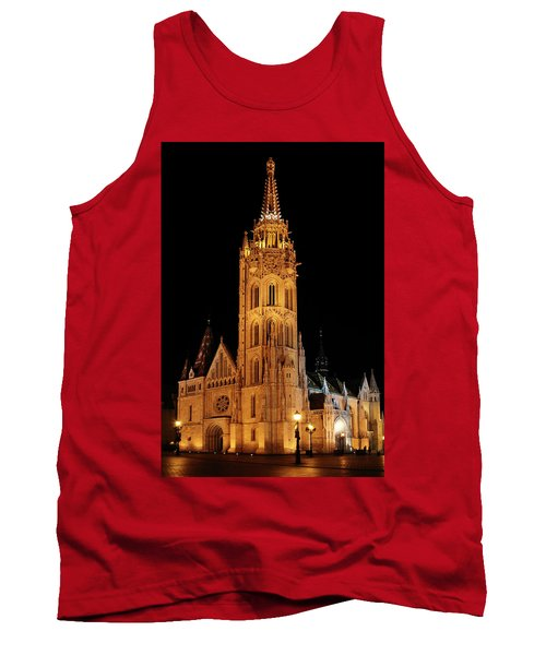 Tank Top featuring the digital art  Fishermans Bastion - Budapest by Pat Speirs