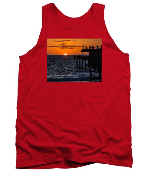 Fishing At Twilight Tank Top