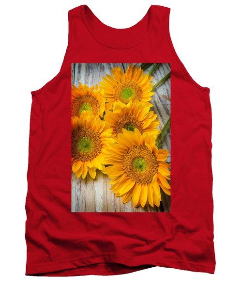 Five Moody Sunflowers Tank Top