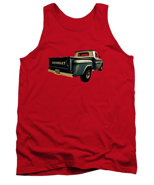 Five-six Chevy Pickup And The Golden Sky Tank Top