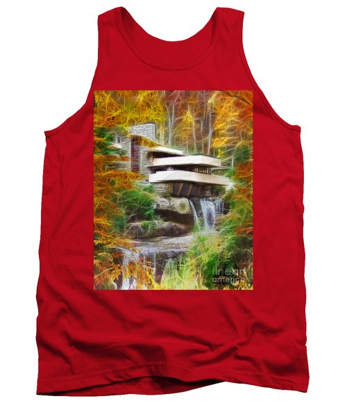 Fixer Upper - Frank Lloyd Wright's Fallingwater Tank Top by John Robert Beck